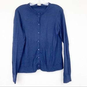 J. Crew The Caryn Navy Blue Button Down cardigan